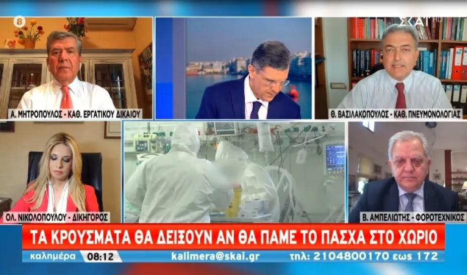 Άλλα λένε τώρα! Βασιλακόπουλος: «Αν μείνουμε Αθήνα το Πάσχα τα κρούσματα θα αυξηθούν. Μετακινήσεις με self-test»
