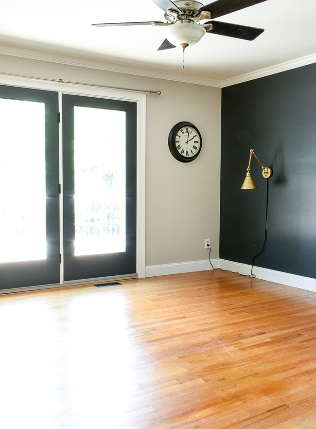 Empty house tour master bedroom