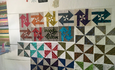 design wall disappearing pinwheel blocks arrow