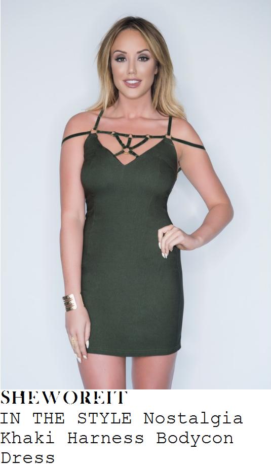 charlotte-crosby-in-the-style-nostalgia-khaki-harness-detail-bodycon-mini-dress