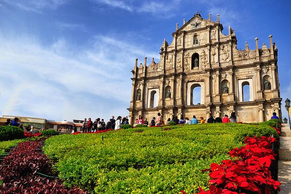 Ruins of St. Paul's Macau with kids