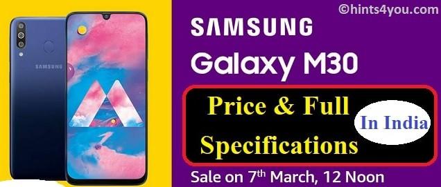 Samsung Galaxy M30 Samsung Phone: