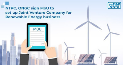 NTPC, ONGC sign MoU to set up Joint Venture Company for Renewable Energy Business: Highlights with Details