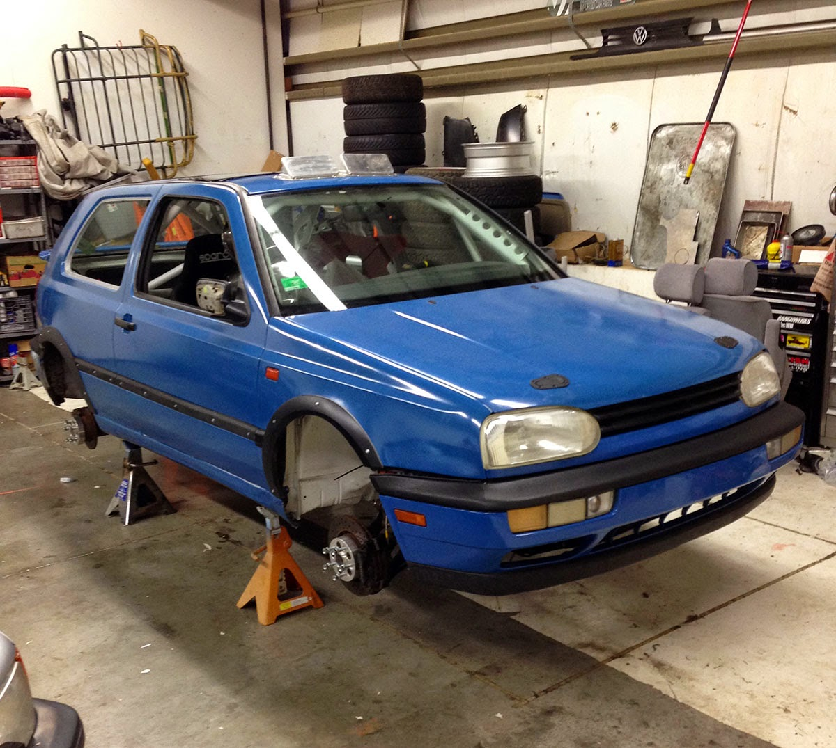 Building the diesel-powered VW rally car