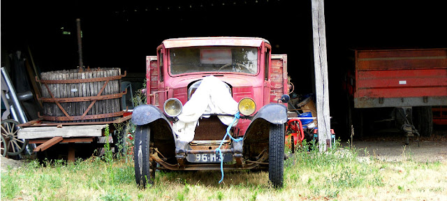 Old truck at a winery near Richelieu.  Indre et Loire, France. Photographed by Susan Walter. Tour the Loire Valley with a classic car and a private guide.