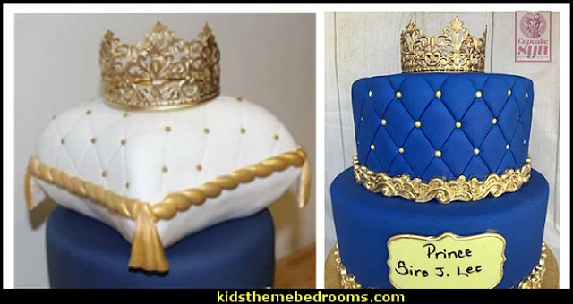 Little Prince gold crown cake topper