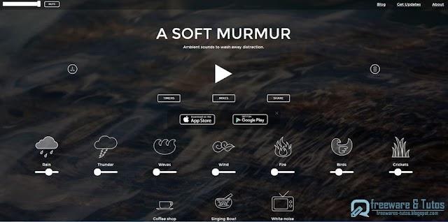 A Soft Murmur : créez votre ambiance sonore personnalisée