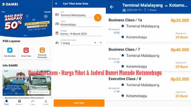 Jadwal Damri Manado Kotamobagu & Harga Tiketnya