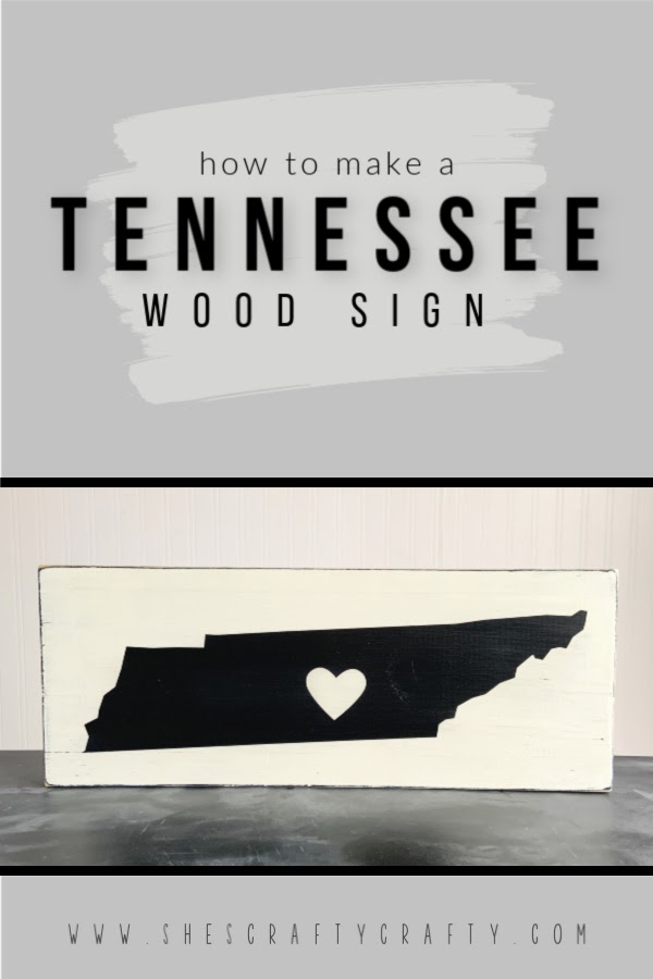 How to make a Tennessee wood sign  |  Use this easy tutorial to make a Tennessee state sign to display in your home or give as a gift  |  She's Crafty