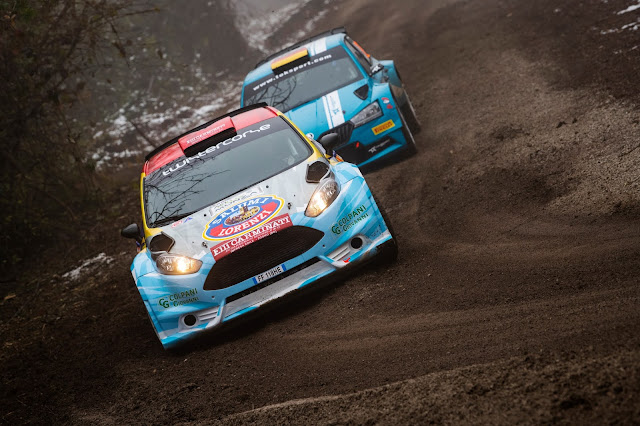 Rally cars racing at Rally Monza