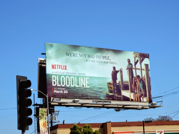 Bloodline series premiere dock billboard
