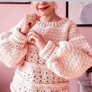 Suéter Dama a Crochet