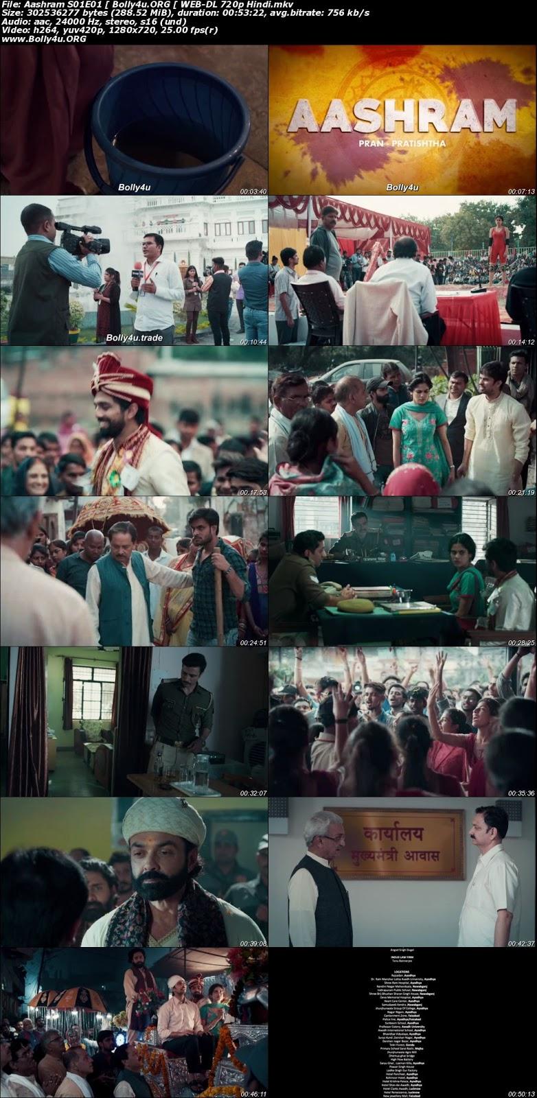 Aashram 2020 WEB-DL Hindi S01 Complete Download 720p