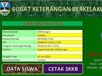 Aplikasi Surat Keterangan Berkelakuan BAIK SISWA
