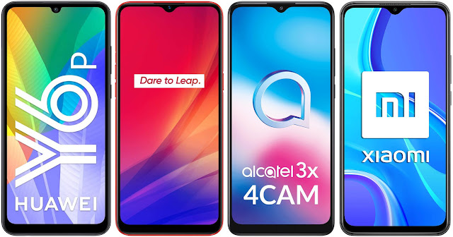 Huawei Y6p vs Realme C3 vs Alcatel 3X 4CAM vs Xiaomi Redmi 9 32 GB