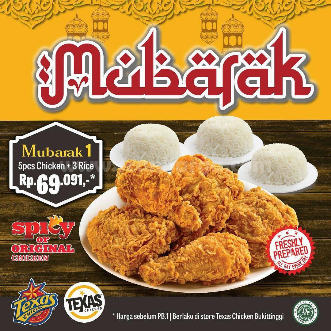 Promo TEXAS CHICKEN Paket Mubarak mulai dari Rp. 69.091