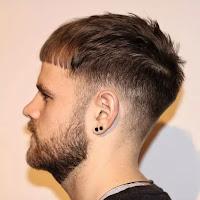 Full-Bangs Caesar Hairstyle