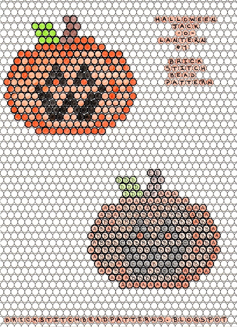 Free printable brick stitch seed bead pattern download