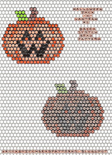 Free printable brick stitch seed bead pattern download