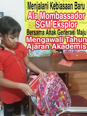 Menjalani Kebiasaan Baru Ala Mombassador SGM Eksplor Bersama Anak Generasi Maju Mengawali Tahun Ajaran Akademis