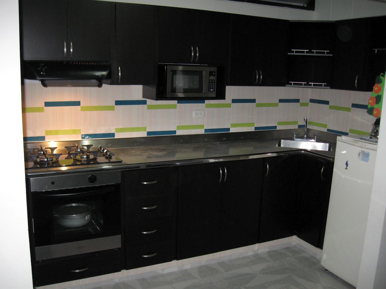 Cocina Integral Color Wengue Moderna Buscar Con Google Cocinas