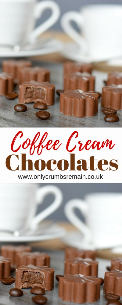 How to make homemade chocolats filled with a coffee ganache.  They make the perfect gift for coffee lovers!