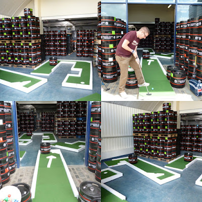 The Brewmaster's Open minigolf tournament at the Camden Town Brewery