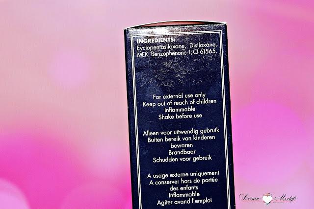 Herome Rapid Nail Dry - preparat przyśpieszający wysychanie lakieru - spray. | Skład