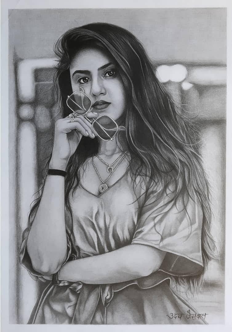Ms. Arishfa Khan Realistic Pencil Sketch