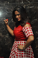 Shilpa Chakravarthy looks super cute in Red Frock style Dress 015.JPG