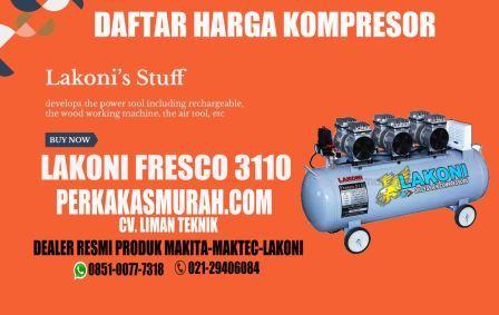 harga-kompresor-lakoni-fresco-3110-oilless-tanpa-oli-silent-dealer-perkakas-murah-jakarta