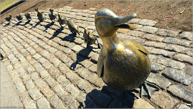 Make Way for Ducklings en el Boston Public Garden