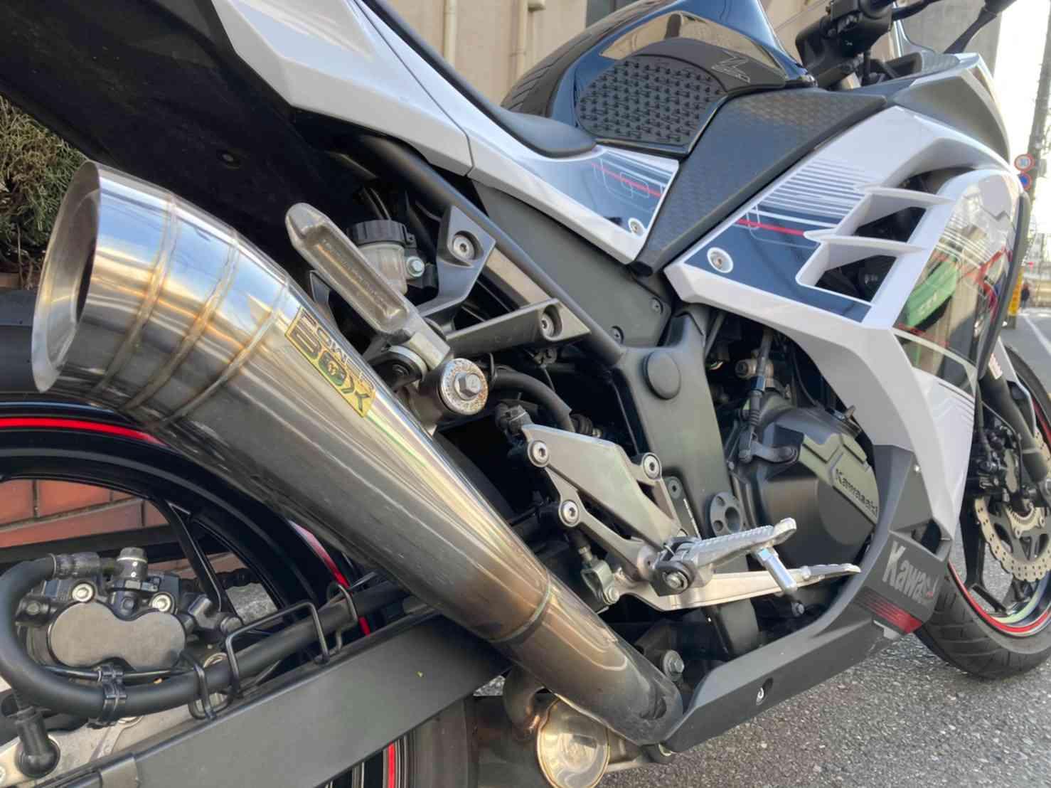 レンタルバイク【ニンジャ250】社外マフラー装備