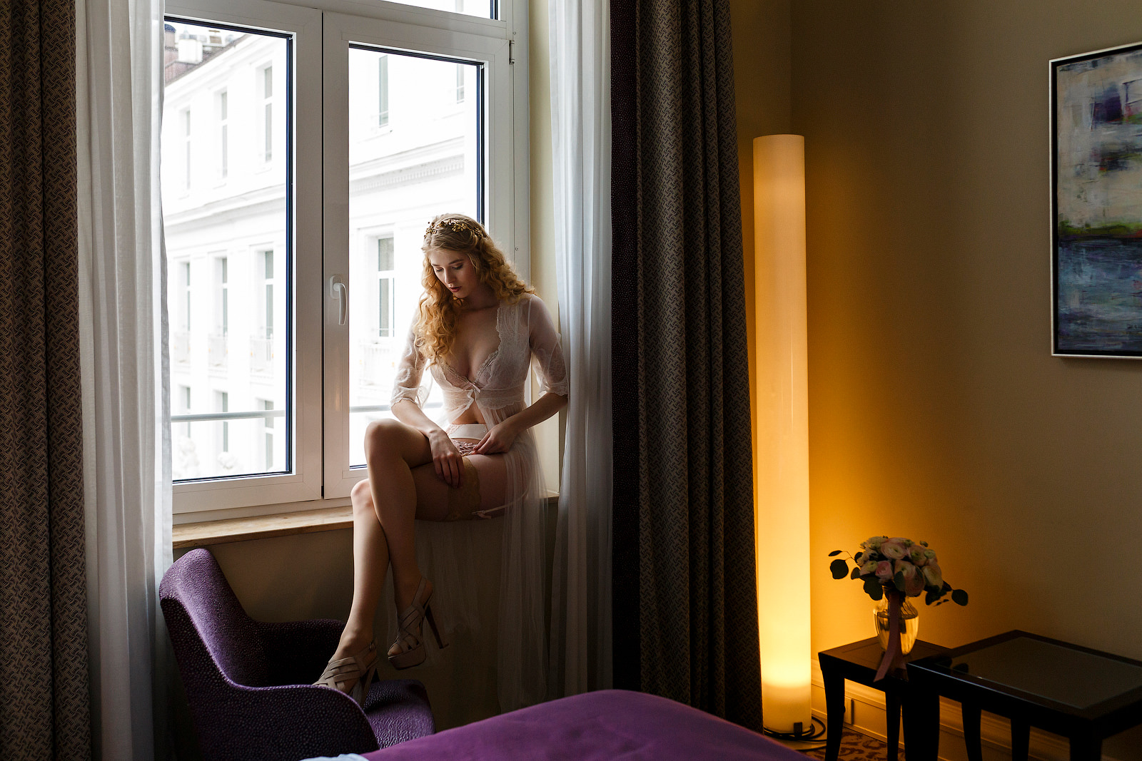 Braut-Boudoir Shooting im Hotel Atlantik in Hamburg