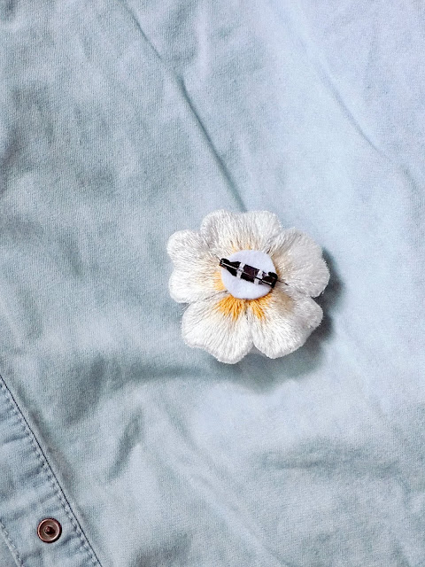 embroiderd brooch