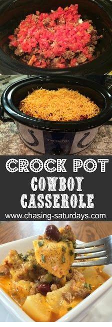 SLOW COOKER RECIPES   Crock Pot Cowboy Casserole