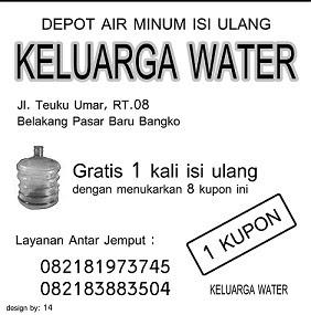 Contoh kupon depot air minum - Abdullah Water