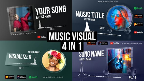 Glass Audio React Music Visualizer[Videohive][After Effects][Element][27903768]