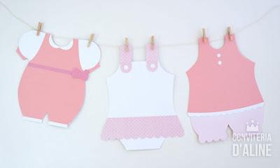 varalzinho roupinhas bebê menina rosa