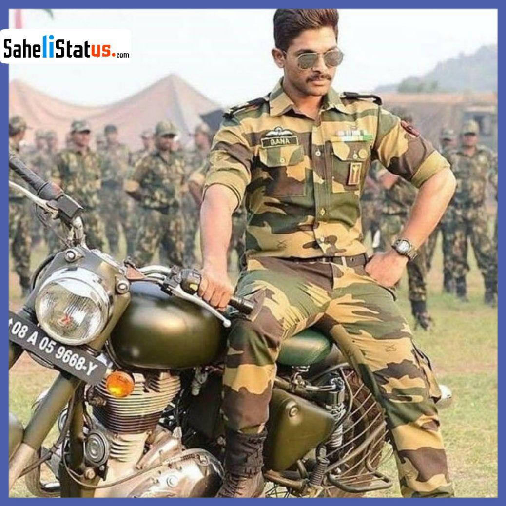 Badmashi DP: You Set This Badmashi DP(Allu Arjun Soilder DP) as Your WhatsApp DP