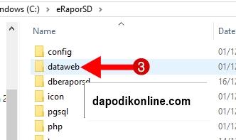 Klik folder dataweb