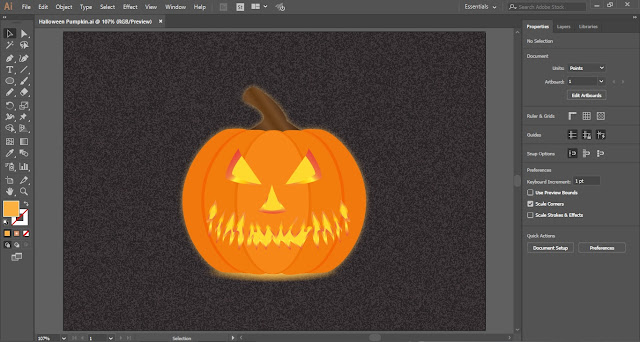 Halloween Pumpkin in Adobe Illustrator
