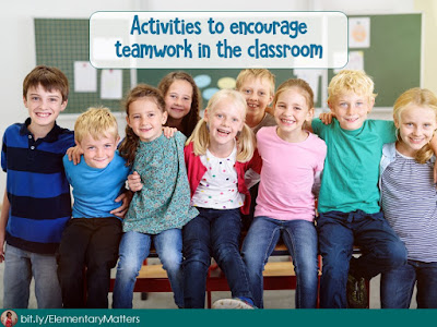 Why Encourage Team Building in the Elementary Classroom? This post tells some benefits of Team Building activities in the classroom and some ideas