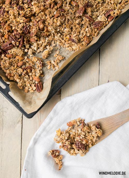 Chai Granola Knuspermüsli Quinoa selber machen Rezept