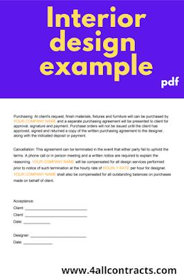 letter of agreement interior design template