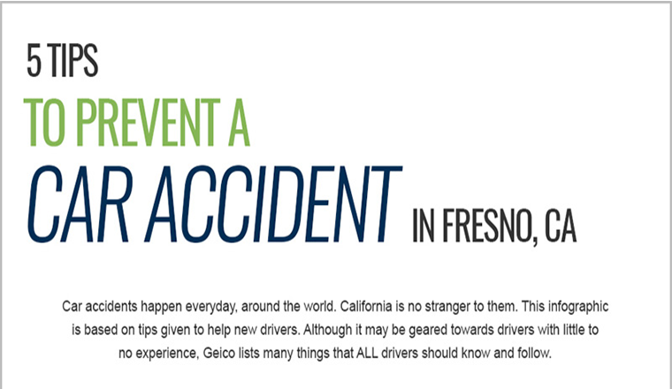 5 Tips to Prevent Car Accidents in Fresno, Ca #infographic
