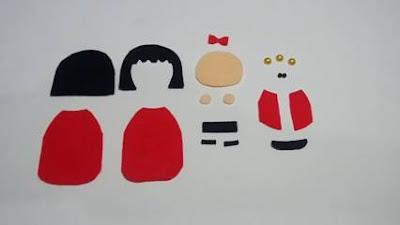 Boneka Jepang dari Kain Flanel