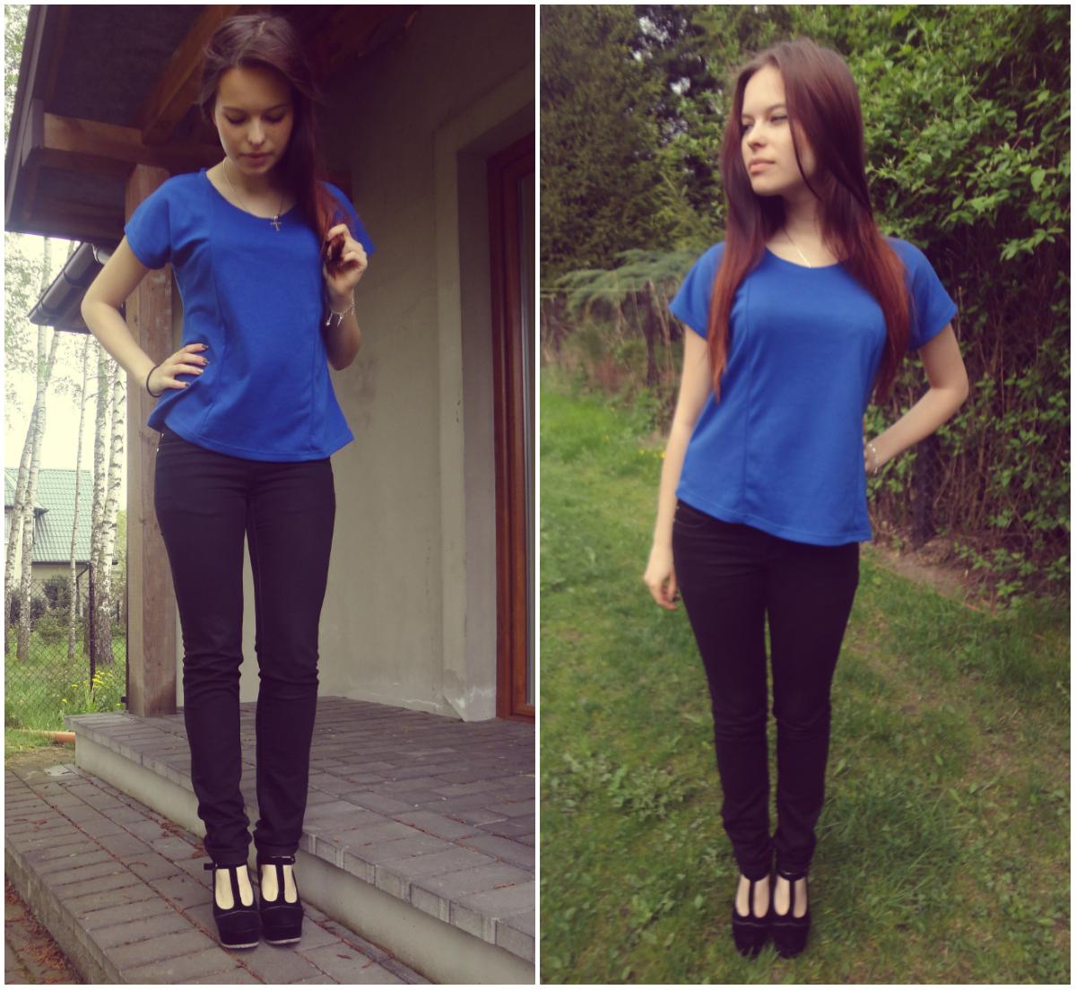 ☼ Navy-blue & black.