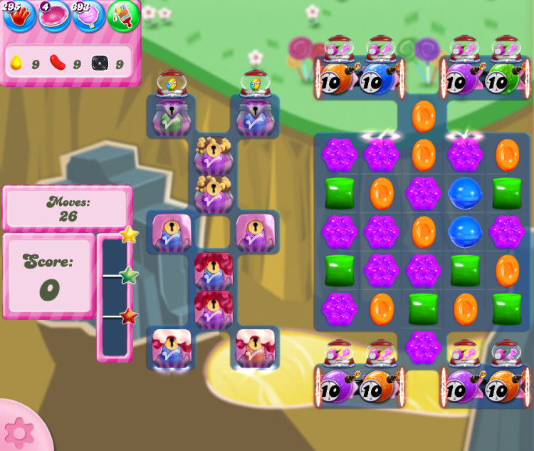 Candy Crush Saga level 2842