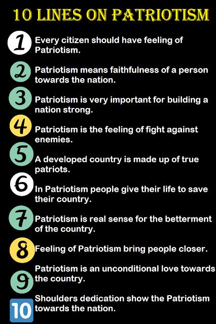 Few Lines on Patriotism
